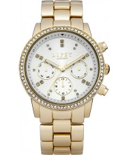 Lipsy LP168 Las señoras blancas y reloj de pulsera de oro