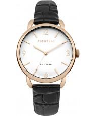 Fiorelli FO031BRG reloj de la correa de cuero negro de las señoras
