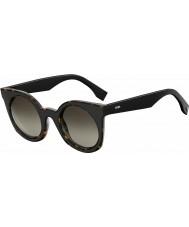 Fendi Señoras y ss 0196-s LC1 ha habana gafas de sol negras