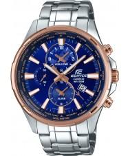 Casio EFR-304PG-2AVUEF reloj de acero de plata para hombre del edificio hora mundial