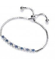 Purity 925 PUR0159-1 Señoras de plata de ley 925 pulsera de plata con topacio circonio cúbico