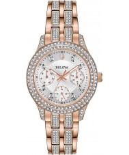 Bulova 98N113 Ladies reloj de cristal