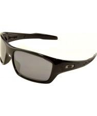 Oakley turbina Oo9263-03 pulido negro - las gafas de sol negras de iridio