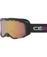 Cebe CBG111 Cheeky OTG negro y rosa - rosa de la luz del flash de oro gafas de esquí