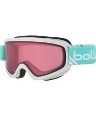 Bolle 21489 Congelación de color blanco brillante con la menta - gafas de esquí Vermillon