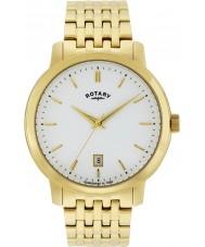 Rotary GB02462-01 relojes para hombre de oro Sloane reloj chapado