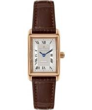 Dreyfuss and Co DLS00143-06 Las señoras reloj chapado en oro marrón correa de cuero