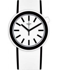 Swatch PNW100 Popmoving reloj de la correa de silicona blanca