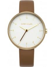 Karen Millen KM135TG reloj de la correa de cuero marrón de las señoras