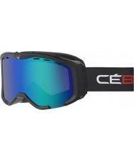 Cebe CBG112 Cheeky negro y rojo OTG - Flash marrón gafas de esquí azul
