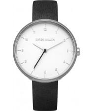 Karen Millen KM135B reloj de la correa de cuero negro de las señoras
