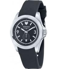 Swiss Eagle SE-9064-01 Reloj para hombre de la correa de silicona negro Dufaux
