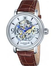 Thomas Earnshaw ES-8011-01 Mens longcase croco marrón reloj de la correa de cuero
