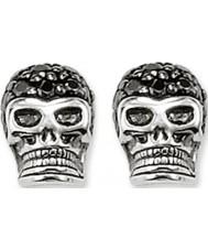Thomas Sabo H1772-051-11 Allanar aretes de plata cráneo