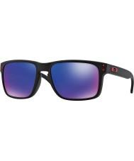 Oakley Oo9102-36 negro mate Holbrook - gafas de sol rojas de iridio