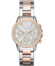 Armani Exchange AX4331 Las señoras de plata y rosa reloj de vestir cronógrafo de oro
