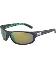 Bolle Anaconda verde mate azul polarizado gafas de sol marrones de esmeraldas