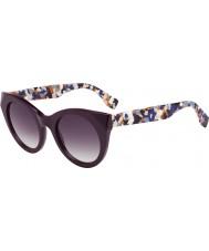 Fendi Damas FF 0203-s j8 5ND gafas de sol multicolor de ciruela
