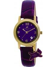 Radley RY2008 reloj de la correa de cuero púrpura de las señoras encanto