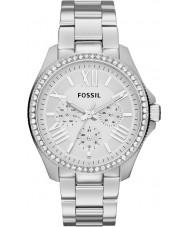 Fossil AM4481 Las señoras de plata Cecile reloj cronógrafo de acero