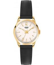 Henry London HL25-S-0002 Damas westminster reloj negro champán pálido