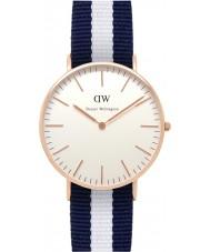 Daniel Wellington DW00100031 Damas clásico 36mm Glasgow aumentaron un reloj de oro