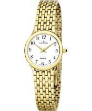 Candino C4365-1 Las señoras reloj pulsera de acero blanco y oro