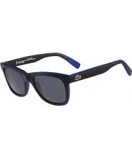 Lacoste L781sp negro gafas de sol polarizadas azules