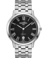 Roamer 515810-41-52-50 Mens superslender reloj de plata brazalete de acero