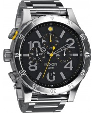 Nixon A486-000 Para hombre reloj pulsera cronógrafo 48-20 de acero de plata