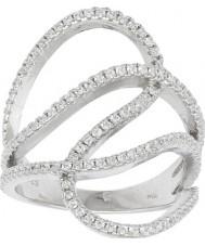 FROST by NOA 145006-54 Las señoras de rodio plateado anillo con óxido de circonio cúbico - tamaño n