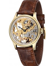 Thomas Earnshaw ES-8049-02 Bauer para hombre de Brown del reloj mecánico esquelético