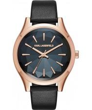 Karl Lagerfeld KL1625 Señoras del reloj de la correa de cuero negro Belleville