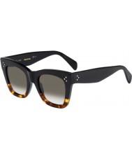 Celine Damas cl 41090-s FU5 z3 gafas de carey negro