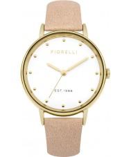 Fiorelli FO032CG reloj de la correa de cuero de las señoras desnuda