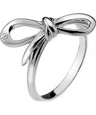 Hot Diamonds DR120-N Las señoras florecen anillo de tono de plata - tamaño n
