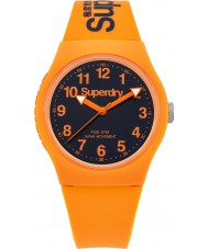 Superdry SYG164O reloj de la correa de silicona naranja urbana