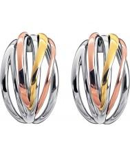 Calvin Klein KJ1RDE300100 Señoras quebradizo tres colores pendientes de aro de mezcla