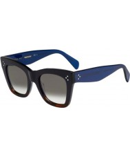 Celine Damas cl 41090-s QLT z3 gafas de sol azules Habana negro
