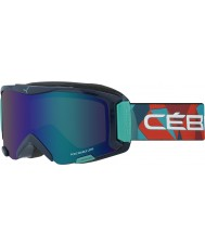 Cebe CBG116 Súper biónica azul del arco iris - Flash marrón gafas de esquí azul