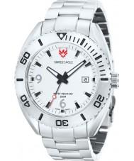 Swiss Eagle SE-9015-22 Para hombre de buceo torpedo reloj de plata blanco