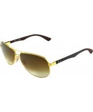 RayBan Rb8313 61 tecnología de fibra de carbono de oro 001-51 gafas de sol
