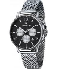 Thomas Earnshaw ES-8001-44 Mens investigador malla de plata reloj cronógrafo