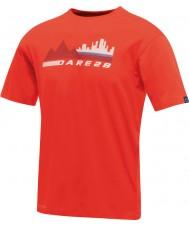Dare2b Camiseta roja ardiente de la escena de la ciudad