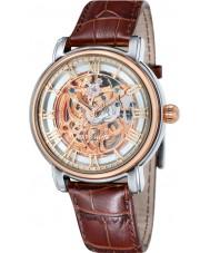 Thomas Earnshaw ES-8040-04 reloj de la correa de cuero marrón para hombre longcase 43mm