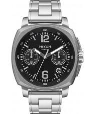 Nixon A1071-000 cargador para hombre negro de acero reloj cronógrafo
