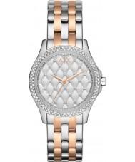 Armani Exchange AX5249 Señoras de plata y chapado en oro rosa pulsera de reloj de vestir