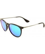 RayBan Rb4171 54 erika negro 601-55 azul refleja las gafas de sol