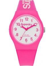 Superdry SYG164PW neón urbana reloj correa de silicona de color rosa