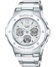 Casio MSG-300C-7B3ER Señoras baby-g tiempo del mundo reloj combi de dos tonos